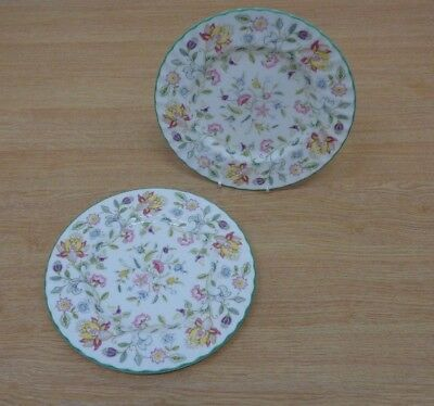 Minton China Haddon Hall Dessert Plates x2 Tableware 19.5cm