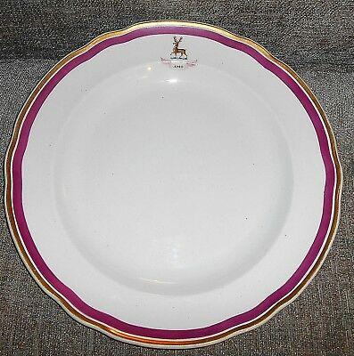 ANTIQUE COPELAND ARMORIAL 'HART/STAG' DINNER PLATE c.1850