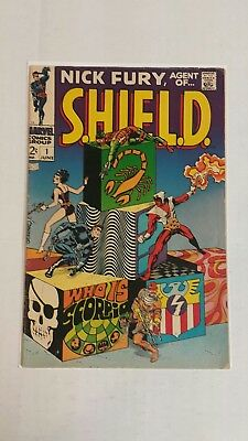 Nick Fury, Agent of SHIELD #1 (Jun 1968, Marvel), G+, Lone Star Verified