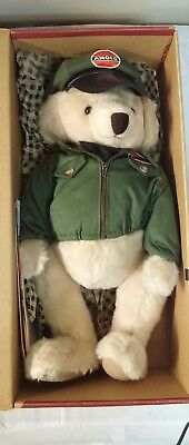 Amoco Andy Service In the 50's First Edition Stuffed Bear In Original Box 1998