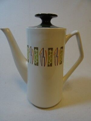 "Vintage Beswick ""Lunar"" patterned coffee pot marked 1958"