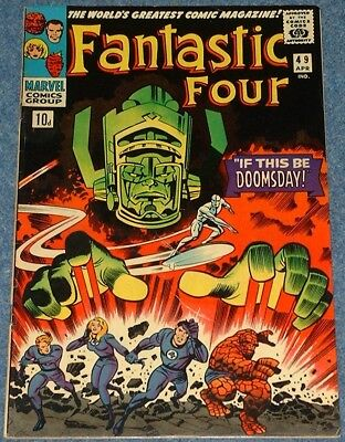 FANTASTIC FOUR # 49 (1966) - 2nd Appearance Silver Surfer and 1st full Galactus!