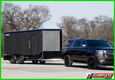 Lightweight! Aluminum 7 X 17 Enclosed Cargo Motorcycle Trailer: Ramp, Torsion