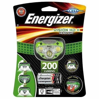 Energizer Vision HD+ Headlight 200 Lumens Bright LED Torch 3 x AAA Batteries