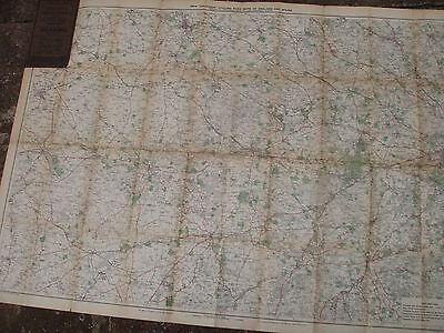 BERKSHIRE OXFORDSHIRE:ANTIQUE CYCLE MAP c1900-20-WINDSOR-READING GEORGE BACON