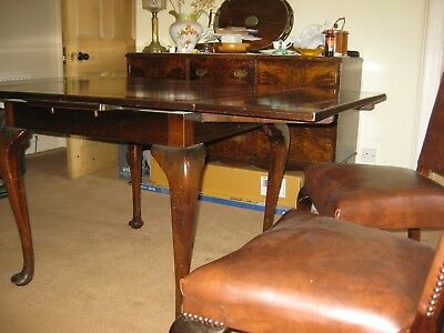 Dining Suite drawleaf Table Chairs Sideboard Walnut Vintage solid
