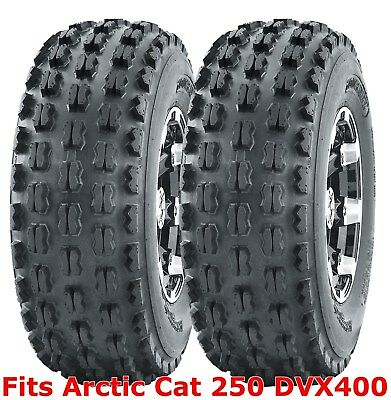 ARCTIC CAT DVX400 FRONT PAIR 22X7-10 QB SPORT ATV TIRES HOLESHOT 4 PLY 2