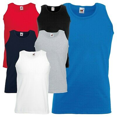 New Mens Athletic Sleeveless Vest Plain Casual Sports Gym Fashion Classic T TOP