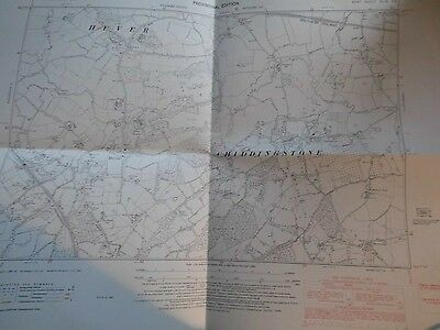 Hever & Chiddingstone:vintage Map Kent:1868-1949-Land Tax & Os.ann Boleyns Home