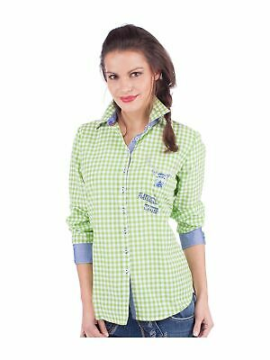 Orbis Traditional Costume Blouse Corinna Checked Apple