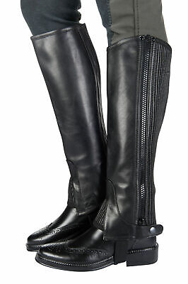 HKM Half Chaps - Star - Leather