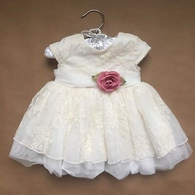 Baby Girl Ivory Dress Lace Size 3 M 8-12lbs Koala Baby Boutique