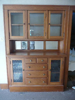 Antique Craftsman Style Built-In China Cabinet - C. 1915 Architectural Salvage