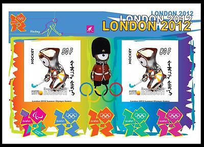 Djibouti 3 Sheets Hockey London 2012 Olympic Games Jeux Olympiques Sports