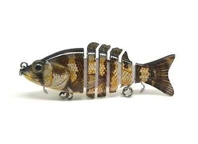 "3.2"" Multi Jointed Bass Fishing Lure Bait Crank Swimbait Life-like Panfish NEW"