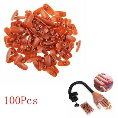 UK Nail Training Hand 100PCS Replacement Tips Displays Practice Trainer