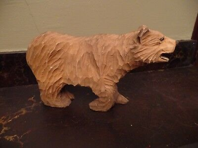 Hand Carved Wood Grizzly / Brown Bear
