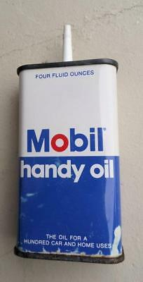 Vintage Mobil Handy Oil Can 4 OZ Can