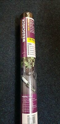 2m x 20m wide 50gsm weed control fabric ground cover membrane Landscape Garden