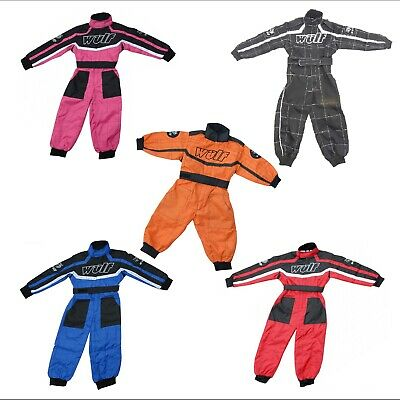 Wulfsport Kid Child Race Suit Motocross KTM MX Karting Quad Pit Dirt Bike Gokart