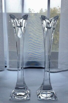 Beautiful Pair Of Nachtmann Lead Crystal Candle Sticks