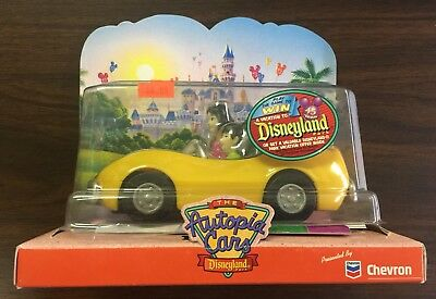 "4 Disney Autopia Cars -  ""the Chevron Cars"" - Disneyland - Rare Collectibles"