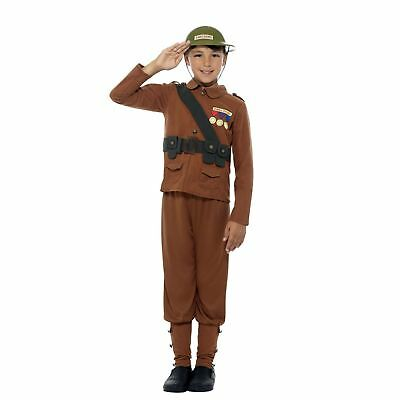 Kids Boys Official Horrible Histories War Soldier Fancy Dress Book Week Costume