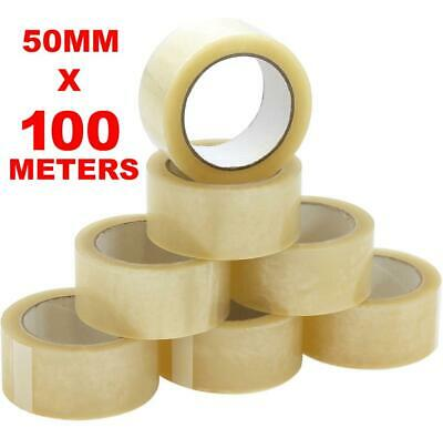 Clear Selotape 50mm x 100M Packing Sticky Tape Rolls Parcels Cellofix Sellotape