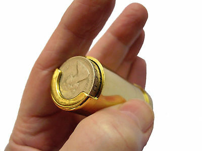 One Pound £1 Coin Holder Gadget Holds Up to 15 Coins Gold Holder