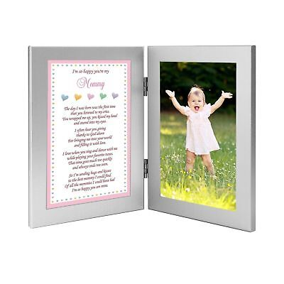 Baby Girl Frame for Mommy - Sweet Words for Mom from Daughter - Add Photo