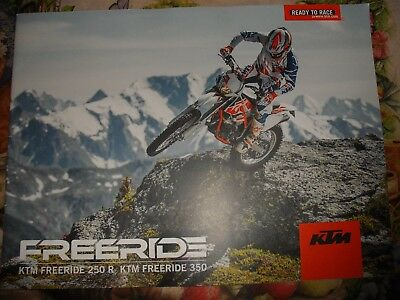 Genuine Ktm Sales Brochure Freeride 250R Two Stroke Freeride 350R 4-Stroke 2014