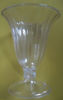 Dairy Queen Vintage Clear Plastic Ice Cream Sundae Cup Dish