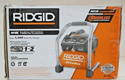 RIDGID 1 Gal. 18-Volt Hand Carry Air Compressor (Tool Only). BRAND NEW.