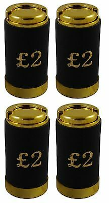 £2 Two Pound Cash Coin Holder Change Dispenser Pocket Taxi Black Leather