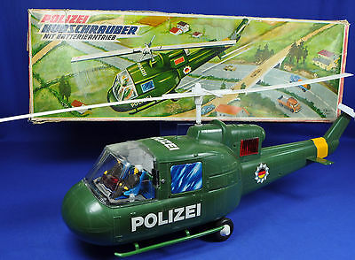 T.N.Nomura Japan Polizei Hubschrauber m. Batterie / Police Helicopter w. Battery