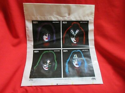 Kiss Promotional Bag Brand New RARE Find All 4 Band Members 1978 Solo Faces