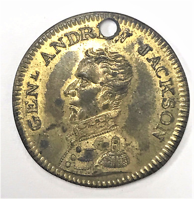 General Andrew Jackson Campaign Token. Brass