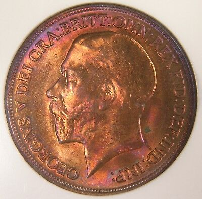 Great Britain Penny, 1913, Spink 4051, Certified by NGC MS 65 RB, 1756436-006