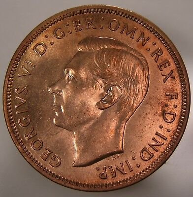 Great Britain Penny, 1938, Spink 4114, Certified by ANACS MS 64 Red, 1516478
