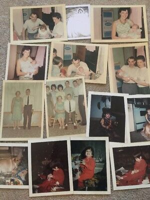 Vintage Photo Lot Of 140 Found Snapshots Of 1970s Child Dogs Holidays More