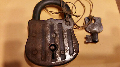 Antique Padlock Springs Open Snaps Locked
