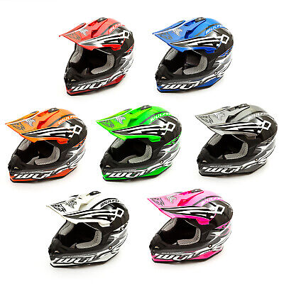 Wulfsport Adult Sceptre Helmets Motocross Pitbike MX Off Road Racing Quad ATV