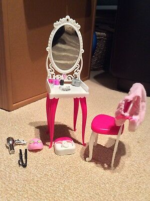 Barbie With Dressing table, Chair And Accessories