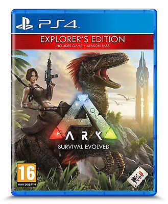 ARK Survival Evolved Explorers Edition PS4 Game New & Sealed With Season Pass