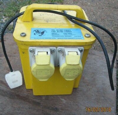 110 volt 2.2 KVA dual outlet site transformer plus 4 x 110v power tools