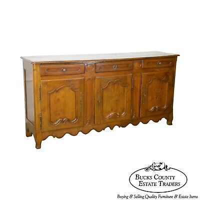 French Louis XV 18th Century Long Oak Sideboard
