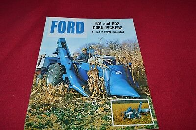 Ford Tractor 601 602 Corn Picker Dealer's Brochure YABE15