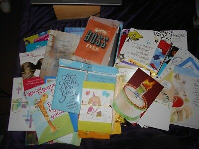 American Greeting GIbson Mixed Greeting Cards Lot of 230 Cards New