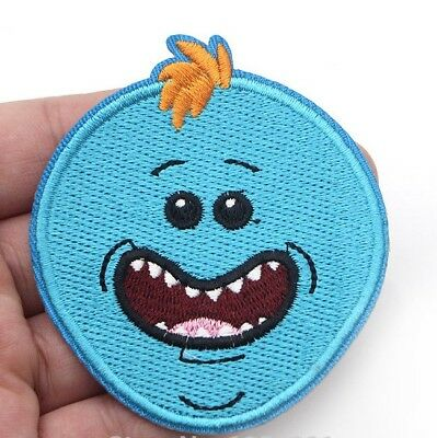 """Rick and Morty TV Series Mr. Meeseeks Face Embroidered 3"""" Patch"""