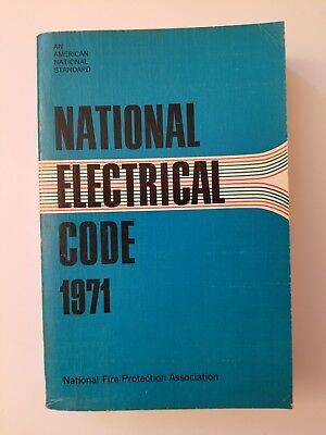 1971 National Electrical Code Book NFPA Soft Back Vintage Manual Fire Protection